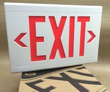 HUBBELL Dual-Lite LXURWE Thermoplastic LED Emergency EXIT Sign 120/277VAC