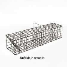 COLLAPSIBLE MUSKRAT TRAP 5 X 5 X 28 EASY TO HAUL WHEN COLLAPSED 1 X 1 MESH