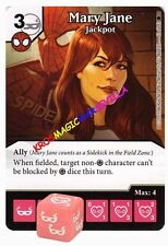 062 MARY JANE Jackpot -Common- THE AMAZING SPIDER-MAN Marvel Dice Masters