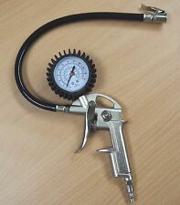 Air Tire Inflating Inflator Dial Gauge Auto Bike Pistol Type 220PSI