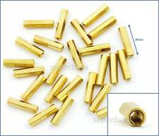 25pc 20mm M3 F-F Female Brass Hex Standoff Spacer Screw Separator Stand Off PCB