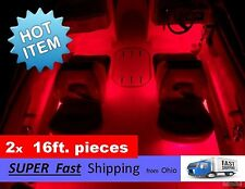 x2 pieces (16ft each) ____ RED boat kit - pontoon or fishing boat part - 32 feet