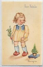 MARIAPIA Bambina con Albererello di Natale PC circa 1940 ITALY