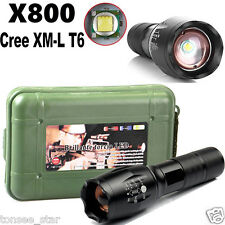 G700 X800 6000LM Taschenlampe T6 Military LED Torch ShadowHawk+Battery+Charger