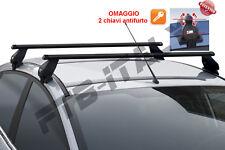 barre portatutto pacchi acciaio auto Nissan Qashqai no rails 2014   Tema Menabo