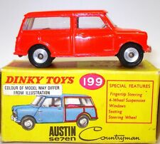 DINKY NO. 199 AUSTIN 7 MINI COUNTRYMAN - FLURO ORANGE - MINT AND BOXED