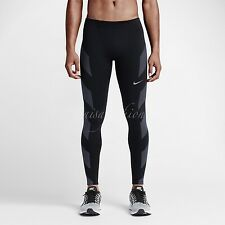 Nike Dri-FIT Flash Men's Running Tights Reflective Print Black 683896 010 Sz S