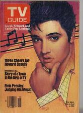 ELVIS PRESLEY RARE TV GUIDE 1983 JUDGING HIS MUSIC (small split on seam)