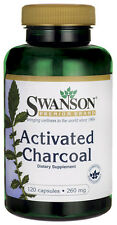 Swanson Activated Charcoal 260 mg, 120 Capsules