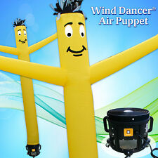 15' Yellow Wind Dancer Air Puppet Sky Wavy Man Dancing Inflatable Tube + Blower
