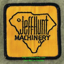 LMH PATCH Badge  JEFF HUNT MACHINERY  Jeffhunt CATERPILLAR Heavy Eqpt Dealer SC