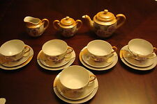 Child tea set floral lusterware made in Japan 18 pieces[japan*]