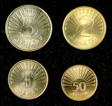 Macedonia coins set of 4 pieces UNC