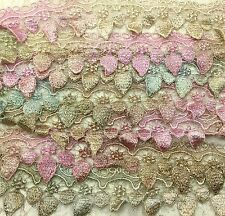 "Venise lace hand dyed 2.25"" wide rayon sold by yard moonbeam quilting trim"
