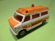 CORGI TOYS CHEVROLET CHEVY VAN - AMBULANCE EMERGENCY - WHITE - GOOD