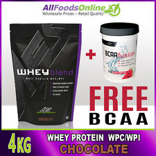 PREMIUM WHEY PROTEIN POWDER - WPC / WPI - WHEY BLEND - CHOCOLATE - 4KG
