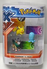 Pokemon XY 3 pack action Figure Gogost Wobbuffet Pikachu Tomy 2014 Japan NIP