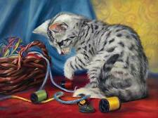 SUNSOUT JIGSAW PUZZLE PLAYFULLY LUCIE BILODEAU 500 PCS CATS #59179