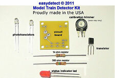 BI-DIRECTIONAL HO SCALE MODEL TRAIN DETECTOR KIT FOR CROSSING FLASHERS & MORE
