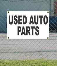 2x3 USED AUTO PARTS Black & White Banner Sign NEW Discount Size Price FREE SHIP