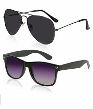 Combo Of Black Aviator and wayfarer Model sunglasses MJ-1259
