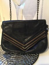 Matt & Nat Handbag Crossbody Black Leather with Brass Trim Purse handbag Cross