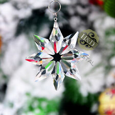 Clear Snowflake Crystal Ornament Pendant Xmas Decor Wedding Gift Suncatcher
