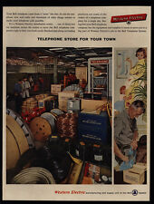 1958 WESTERN ELECTRIC Distribution Center - Telephone Booth - VINTAGE AD