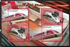 UGANDA 2012 EXPRESS TRAINS SHEETLET MNH