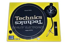 Technics Faceplate for SL1200MK2 Yellow, Yellow Faceplate for SL1200MK2
