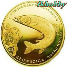Polonia 2010 coins 10 Zlotych Głowacica Huchen Fish Fisch Poissons Pesce Ryby