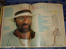 LUCIO DALLA storia canzone CARUSO clipping ritaglio articolo fotografia 1986