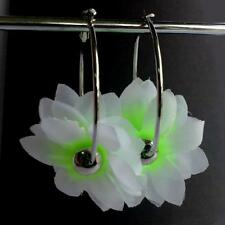 Hawaii Ohrringe Ohrstecker Ohrhänger Hängeohrringe Stoff Blume Flower Creolen