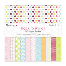 """BACK TO BASICS BRIGHT SPARK COLLECTION - TASTER PACK 6""""x6"""" PAPERS - DOVECRAFT"""