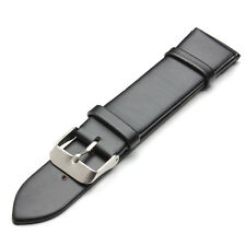 18mm 20mm Black Needle Buckle Clasp Casual Leather Watch Band
