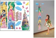 GIRL GROWTH CHART HEIGHT MEASURE BEEDROOM WALL STICKERS DECOR Princess FREE POST
