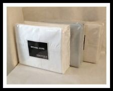 Michael Kors California King Sheet Set 500 Thread Count- Ivory