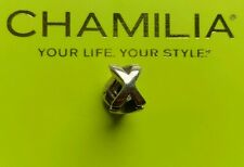 Genuine Chamilia silver 925 letter initial 'X' bracelet charm bead T-50