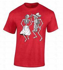 Skeletons Dancing T-SHIRT Day Of Dead Dia De Los Muertos Halloween Party Shirt