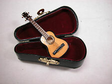 "Dollhouse Miniature 1:12 Scale Heidi Ott  Music 3""  Guitar  with Case #Z210"