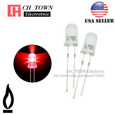 50pcs 5mm Water Clear Red Light Candle Flicker Flickering Blink LED Diodes USA