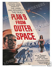 PLAN 9 FROM OUTER SPACE LOBBY CARD POSTER OS 1958 ED WOOD VAMPIRA BELA LUGOSI