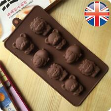 *UK Seller* Silicone 8 Lion Bear Hippo Chocolate Cake Animal Shape Mould Mold