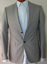 New Z Zegna Grey Cotton Blend 2-BT Suit 36R/W31 EU46R