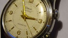 Vintage Timor Voxor Alarm Incabloc 33mm Mens SS watch for PARTS