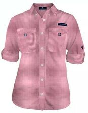 New L Simply Southern Long Sleeve  Dock Fishing Shirt Size Large Pink Monogram