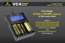 XTAR VC4 LCD USB Battery Charger Power For Li-ion Ni-MH Ni-CD 18650 16340 AAA AA