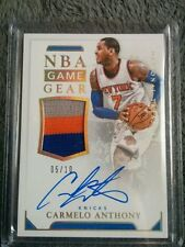 2015-16 National Treasures NBA Game Gear Carmelo Anthony Auto Patch Jsy #5/10