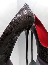 1969 ITALY LEDER Hohe Stiletto Damen Pumps Z42 Übergröße Leather Sexy High Heels