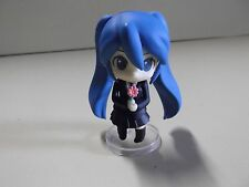 "#A223 Vocaloid Miku Anime 2.5""in Blue Hair Cutie in Darling Black Outfit"